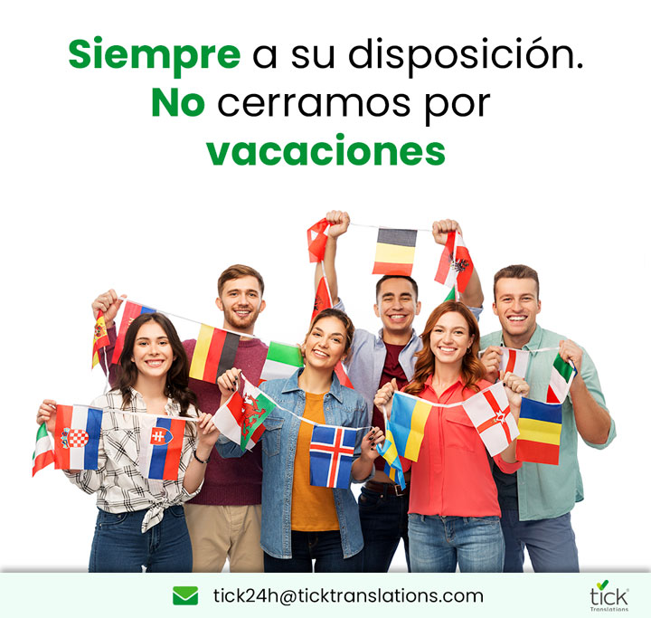 Banner Vacaciones Tick Translations