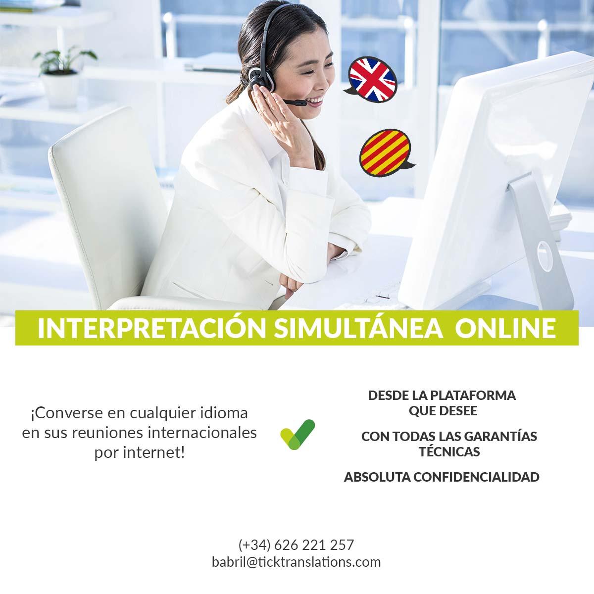 Banner Interpretación Simultánea Online