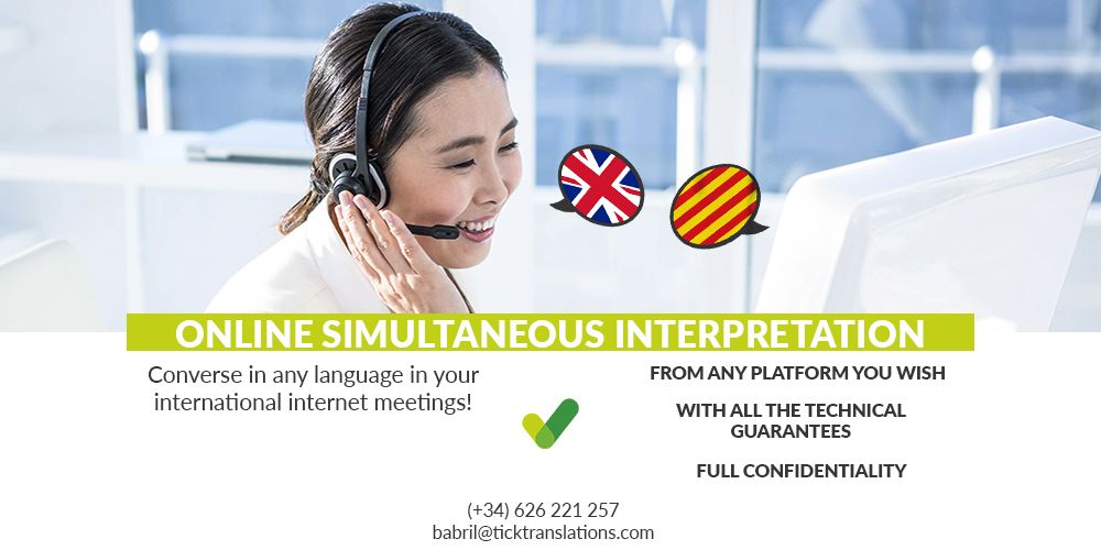 Banner Online simultaneous interpretation Tick Translations