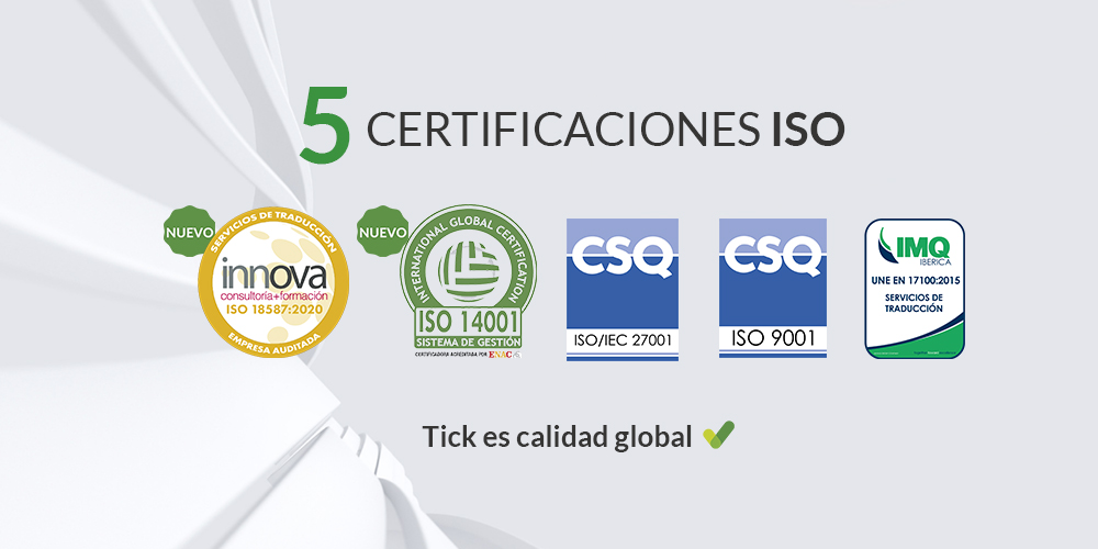 Tick Translations_ISO_ Tick means global quality